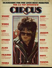 Ron Wood Lou Reed Alice Cooper Jaws ZZ Top Circus Magazine Sept 1975