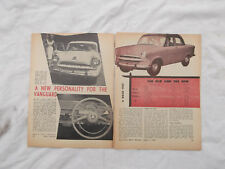 Standard Vanguard Spacemaster Phase 3 Original Article Removed from a Magazine