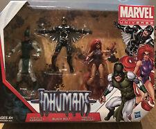 """Marvel Inhumans 4"""" Action Figure 3Pk 2012 New Black Bolt Medusa Avenger Universe"""