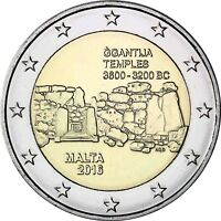 Malta 2 Euro 2016 Ggantija Tempel Gedenkmünze Prähistorische Stätten bankfrisch