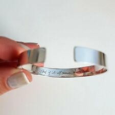 Mother Birthday Jewelry Gift Ideas Personalized Signature Engraved Bracelet -