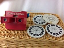 RED White Blue  Gaf View-master Viewer & Disney Favorites   Bugs Bunny Reels USA