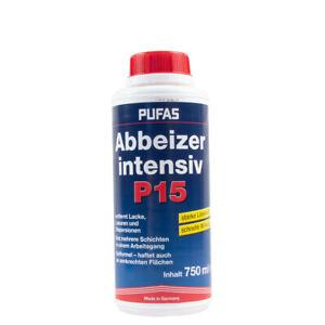 (18,00€/ L)Pufas Abbeizer P15 Intensiv 750ml