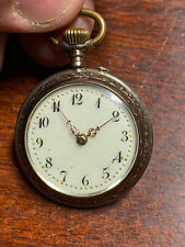 800 Silver Working Antique Pocket Watch