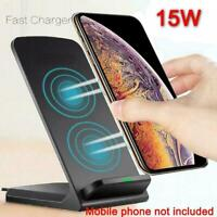 Qi Wireless Fast Charger Charging Stand Dock For Galaxy 11 Xs S20+ Max V2U8