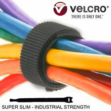 Velcro Brand Hook & Loop Cable Ties Cord Organizer Reusable Straps 25ct 8 x 1/2