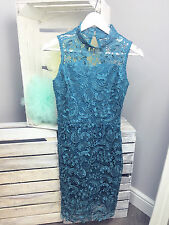 Club L Sleeveless Crochet Dress With Cut Out Back Detail RRP £40 (AS-38/15)