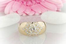 SCHMUCK Van Cleef & Arpels Ring mit Navette Diamant & Brillanten in Gelbgold 750