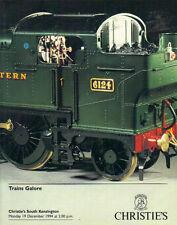 CHRISTIE'S Model Railway Train Bing Exley Hornby Marklin Trix Wrenn Catalog 1994