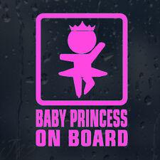 Baby Princess On Board Car Decal Vinyl Sticker