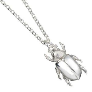 Sterling Silver Jewel Chafer Beetle Necklace - Large  (Chrysina Limbata)