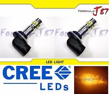 CREE LED 50W 881 H27 ORANGE AMBER TWO BULB FOG LIGHT PLUG PLAY REPLACE SHOW JDM