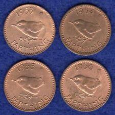 More details for great britain, elizabeth ii farthings, 1953 - 1956, nice grade (ref. t3856)