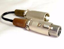 Panasonic Dvc Pro XLR 2 Micro Cable 7.6cm Largo 3 Pin XLA-3 110 8749 Hembra Male