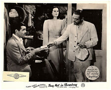 THEY MET IN BOMBAY ORIGINAL LOBBY CARD CLARK GABLE ROSALIND RUSSELL PETER LORRE