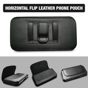 For Apple iPhone 8 Plus Phone Holster w/ Belt Clip Pouch Case Black PU Leather