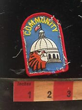 Fun COMMUNITY Capitol Building Patch (used/recovered from scout vest) C748