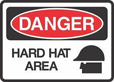 "DANGER HARD HAT (5 Pack) 3.5"" X 5"" Label Sticker Safety Sign Decal Warning"