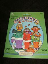 Sesame Street Paper Doll Book,1984,Muppets Bert, Ernie, Prairie Dawn & 4 Seasons