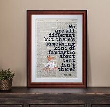 Fantastic Mr Fox quote dictionary page art print wall poster antique gift
