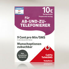 Vodafone Talk & SMS inkl. 10 Euro Guthaben Vodafone Aktion CallYa Prepaid Sim
