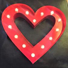 rouge large coeur en métal LED MARQUIS lettres + quotidien Minuteur