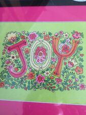 "JOY - ARTISTE by Zweigart Counted Cross Stitch kit  - 10.25"" x 7.5"""