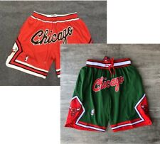 Chicago Bulls Red and Green Basketball shorts All sewn