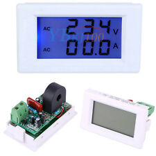 Digital LCD Dual Display Voltmeter Ammeter Panel Current Meter AC 100-300V 0-50A