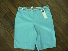 NWT Charter Club Tummy Slimming Turquoise Shorts     Size 4   $49.00