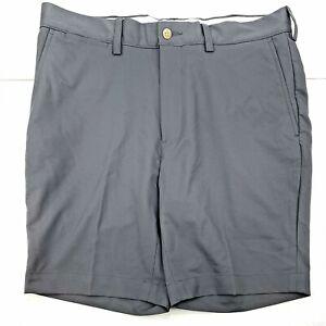Polo By Ralph Lauren Men's Gray Casual Flat Front Shorts Sz 34