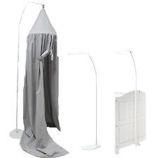 Himmelstange Himmelhalter weiß freistehend für Babybett Kinderbet 150 - 215 cm