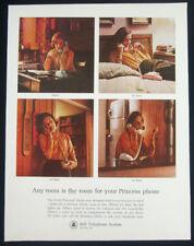 1964 Bell Telephone large print ad - Princess phones, pink, blue, white