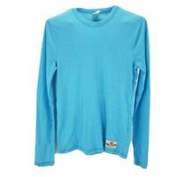 Hollister Womens Pullover Sweater Blue Ribbed Long Sleeve Cotton Blend Soft S