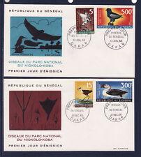 ASg/ Sénégal  enveloppe  1er jour  oiseaux  P et PA    1968