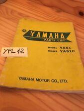 Yamaha parts list 125 YAS1 YAS1C  catalogue pièce détachée édition 1968