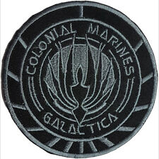 BSG Colonial Marines Galactica Grey Badge Embroidered Patch Sew/Iron - on 9cm
