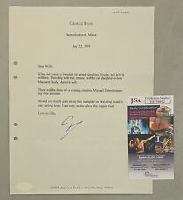 President George H.W. Bush Signed 1993 Typed Letter Autographed Jsa Coa Auto