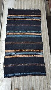 VINTAGE COLOURFUL HAND MADE WOOL TAPESTRY KILIM RUG From Bulgaria