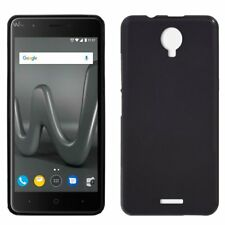 FUNDA PARA WIKO HARRY DE TPU SILICONA GEL GOMA COLOR NEGRA CARCASA FORRO MOVIL