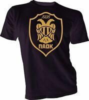 PAOK FC of Greece UEFA Football Soccer T-shirt handmade jersey mens Team Sports