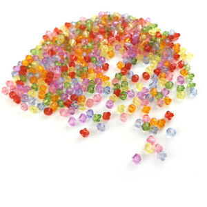 Mixed-Colour Acrylic Beads Faceted Bicone 6mm Pack Of 400+