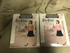 NWT  2 Pairs MeMoi light support Pantyhose Energizing - Medium  Bronzo