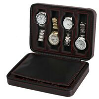 2/4/8 Watch Box Case Holder For Men Organizer Storage Display Jewelry Leather