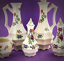 Antique / Vintage Japanese Tiered Octagonal Pagoda Porcelain Tableware Set Lot