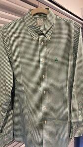Brooks Brothers Milano Extra Slim Fit Non Iron Gingham Shirt - Medium