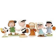 Lenox Baseball Team Charlie Brown Snoopy 5 Pc Figure Box Sports Game Set 847956