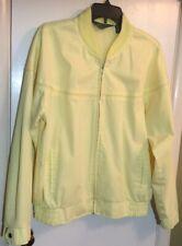 Haband Men's Jacket/Windbreaker Vintage Bomber Style  Yellow Size Large