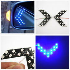 Double Row Arrow Panels LED Car Rear View Turn Light Signal Blue Lamp For Holden