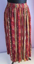 VTG Ladies JANE ASHLEY Red Multi Indian Hippy Skirt Size Medium (176)